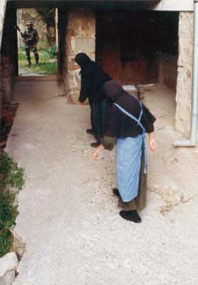 Serb Orthodox nuns in their seclusion