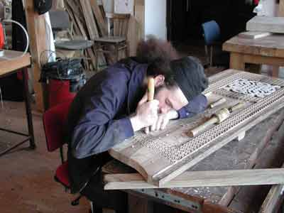 In the woodcarving workshop