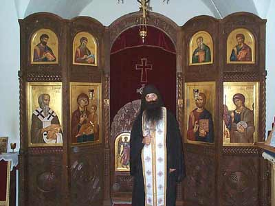 Abbot Stephen in the Chapel