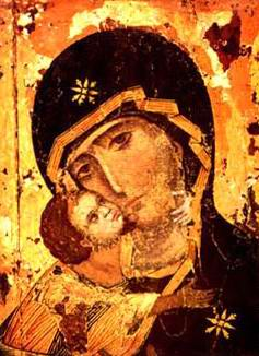 Holy Virgin of Vladimir, a russian icon