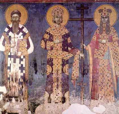 SS. Constantine and Helen with St. Sava of Serbia