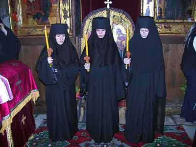 Three youngest nuns in Gracanica