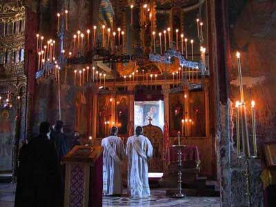 Silent light of Decani candles