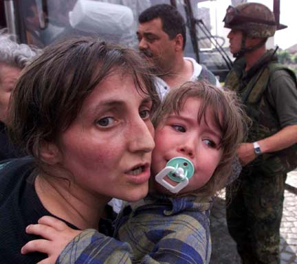 A Serbian mother and a child