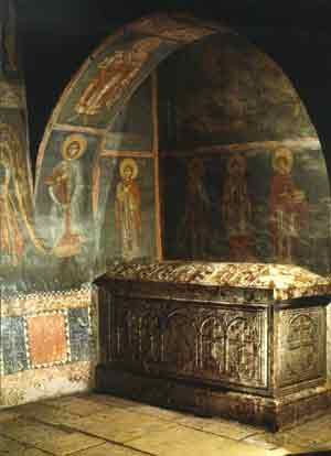 The tomb of Archbishop Daniel
