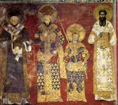 The royal family with St. Sava