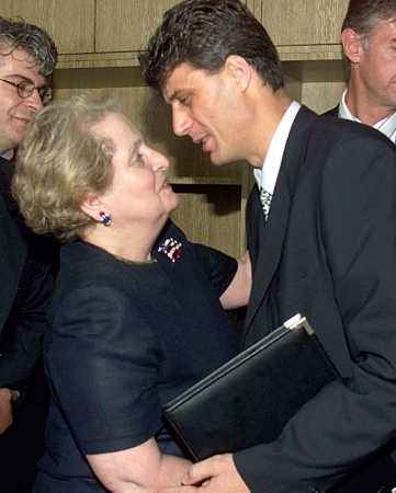 Secretary Albright and UCK leader Hashim Thaci