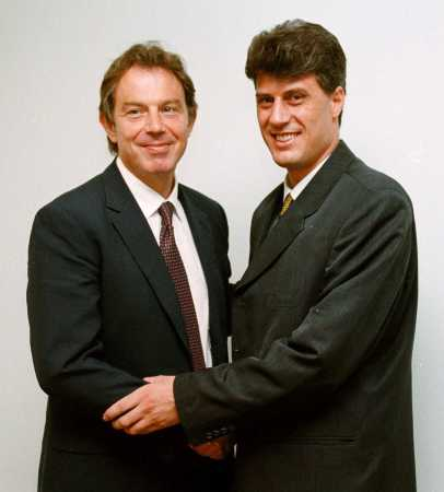 Tony Blair and UCK leader Hashim Thaci