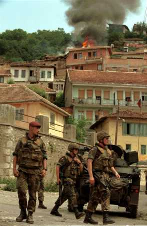 Hundreds of Serb houses were set on fire in Prizren