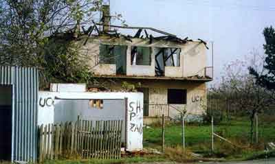 A Serb House destroyed by UCK
