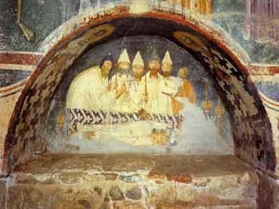 The tomb of the Bishop of Lipljan