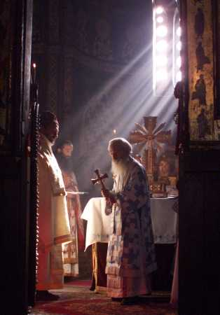 Liturgy in Gracanica Monastery, Kosovo