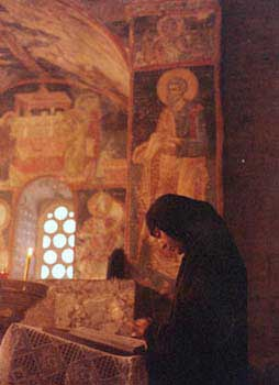 Serbian Orthodox nun in Pec, Kosovo
