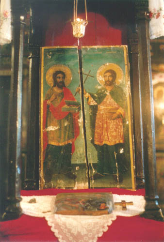 Holy Cosmas and Damian, icon, 19 century