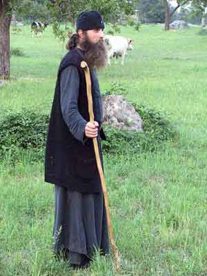 Fr. Daniel in the field