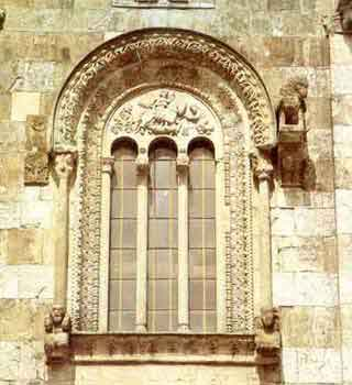A window of the church
