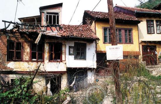 Destroyed Serb Houses in Prizren