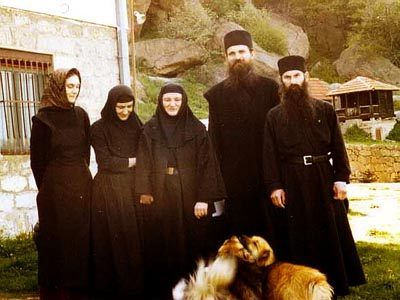 Sokolica sisters with Abbot Teodosije and Fr. Avakum