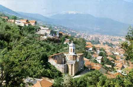 Sv. Spas and the city of Prizren