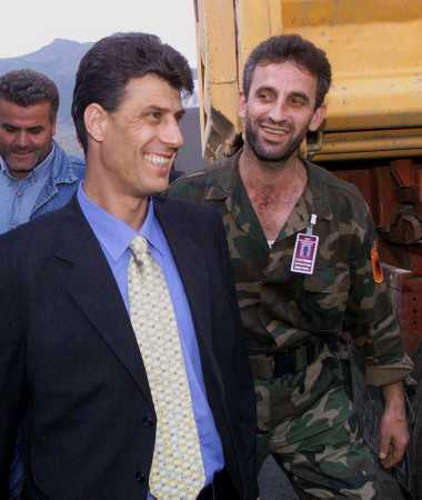 Hashim Thaci with Tara, the UCK leader of Orahovac