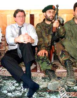 Amb. Holbrooke with an UCK commander in 1998