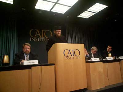 Fr. Sava speaking at Cato Institute, Feb 1999