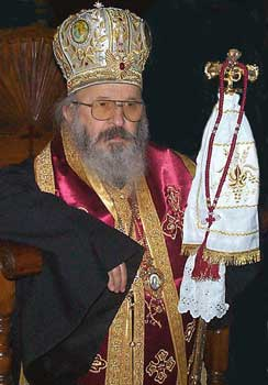 Bishop Artemije - On a Cross with his people