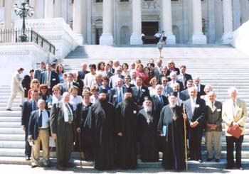 Serb Americans in front of Capitol